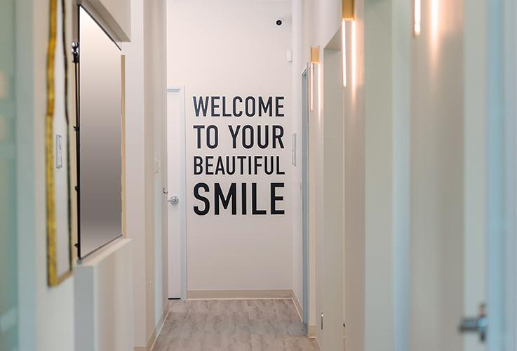 smile quote in practice hall